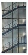 Stairs Behind Glass Bath Towel
