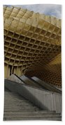 Stairway Leading Up To Metropol Parasol In The Plaza Of The Inca Bath Towel