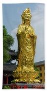 Standing Budda At Mi Tuo Shi Bath Towel