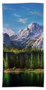Stanley Lake Reflections Bath Towel