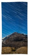 Star Trails Over Columbia Icefields Bath Towel