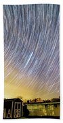Star Trails Over Custer Observatory Bath Towel