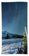Star Trails Over Mt. Hood Bath Towel