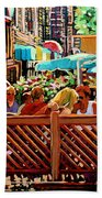 Starbucks Cafe On Monkland Montreal Cityscene Bath Towel
