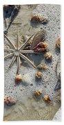 Starfish And Sea Shells Bath Towel