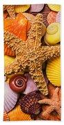 Starfish And Seashells  Bath Towel