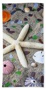 Starfish Beach Still Life Bath Towel