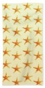 Starfish Pattern. Bath Towel
