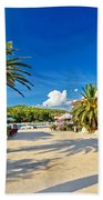 Stari Grad On Hvar Island Palm Waterfront Bath Towel