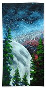 Stars And Moon Hand Towel