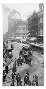 State Street - Chicago Illinois - C 1893 Bath Towel