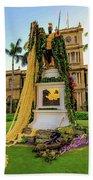 Statue Of, King Kamehameha The Great Hand Towel