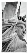 Statue Of Liberty, Lateral Portrait Bath Towel
