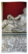 Statue Of The Greek River God Tiberinus At The Vatican Museum Hand Towel