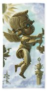 Steam Punk Cherubs Bath Towel by Martin Davey