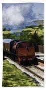 Steam Train 2 Oil Painting Effect Bath Towel