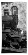 Steam Train In Station Bath Towel