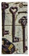 Steampunk - Old Skeleton Keys Bath Towel