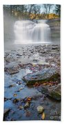 Steamy Morning At Pixley Falls Bath Towel