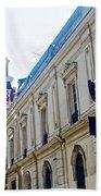 Steepled Building Being Restored On Side Street Of Plaza De Armas In Santiago-chile  Bath Towel