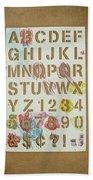 Stencil Alphabet Fun Bath Towel