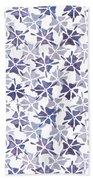 Stencilled Floral Bath Towel by Jocelyn Friis