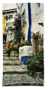 Step Street In Obidos Bath Towel