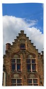 Stepped Gables Of The Brick Houses In Jan Van Eyck Square Bath Towel