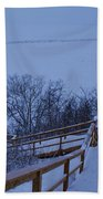 Steps Into Winter Hand Towel