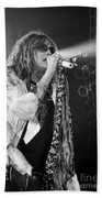 Steven Tyler In Concert Bath Towel by Traci Cottingham