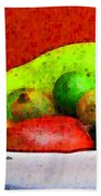 Still Life Art With Fruits Bath Towel