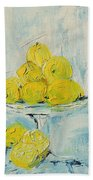 Still Life - Lemons Bath Towel