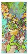 Still Life Of Flowers Hand Towel