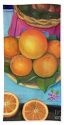 Still Life Oranges And Grapefruit Bath Towel