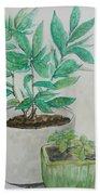 Still Life Plants Bath Towel