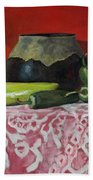 Still Life With Green Peppers Bath Towel