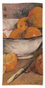 Still Life With Oranges Bath Towel