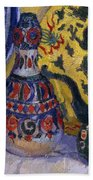 Still Life With Oriental Figures, 1913  Bath Towel
