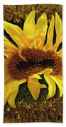 Still Life With Sunflower Bath Towel