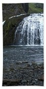 Stjornarfoss Waterfall - Iceland Bath Towel