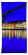 Stockholm Old City Blue Hour Serenity Hand Towel