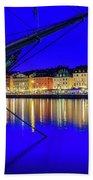 Stockholm Old City Blue Hour Serenity Bath Towel