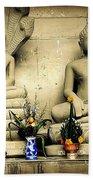 Stone And Flowers - Buddhist Shrine Bath Towel