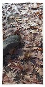 Stone And Leaves Bath Towel