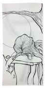 Stone Angel Hand Towel by Loretta Nash