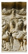 Stone Carving On Mausoleum Of The Julii Bath Towel