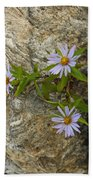 Stone Flowers Blue Bath Towel