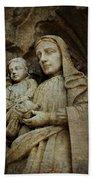 Stone Madonna And Child Bath Towel