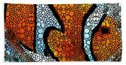 Stone Rock'd Clown Fish 2 - Sharon Cummings Bath Towel