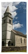Stone Tile Roof Of The Church Of The Holy Cross In Tomaj Parish  Bath Towel